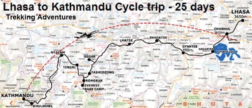 map of ktm nepal with Lhasa To Kathmandu Cycle 25 Days on Nepal Nep further Everest with highpass trekking moreover Capitalkathmandu together with Ktm pokhara as well Nepal District Map.